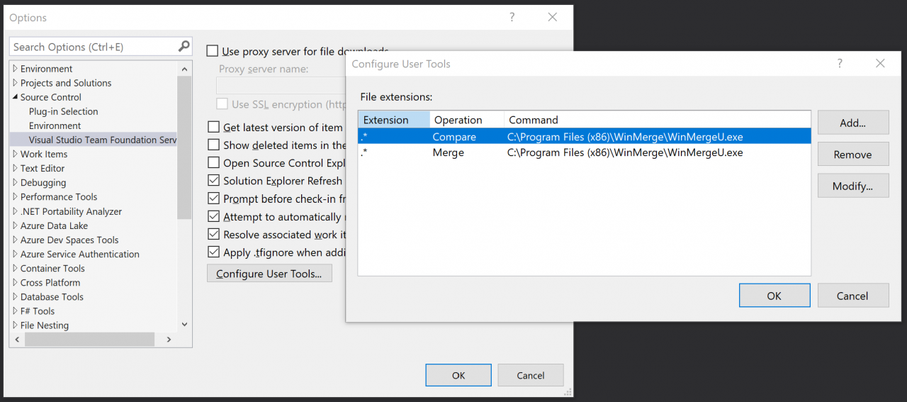 Configure User Tools location in Visual Studio Options